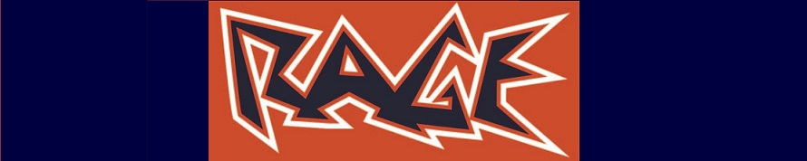 Rage banner logo orange