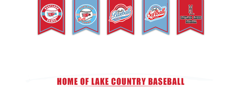Lake country youth baseball logo the one
