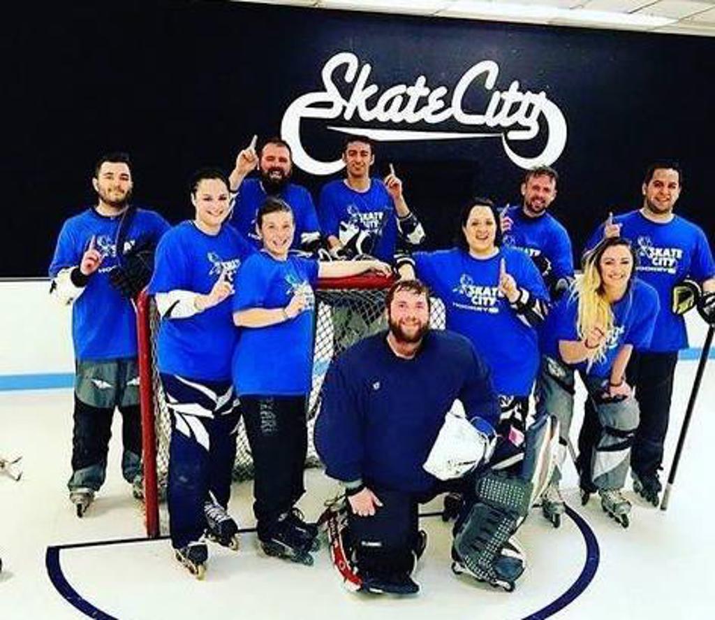 Adult roller hockey league — 6