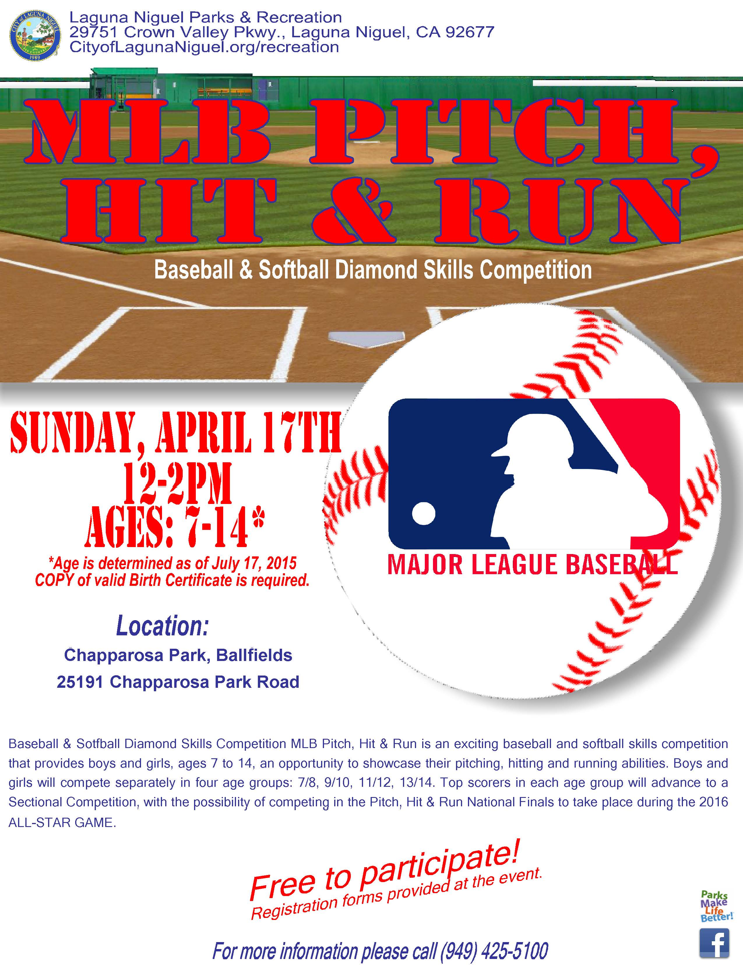 Mlb pitch hit run march 6th at chapparosa park ball fields sun download event flyer aiddatafo Gallery