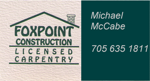 Foxpoint construction mccabe