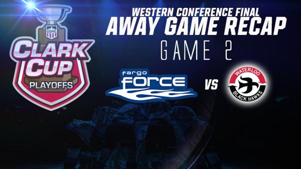 Game 2 Result: Fargo 3 Waterloo 2 OT/W