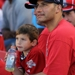 Andy Pettite and his son Luke watch the 2010 Home Run Derby