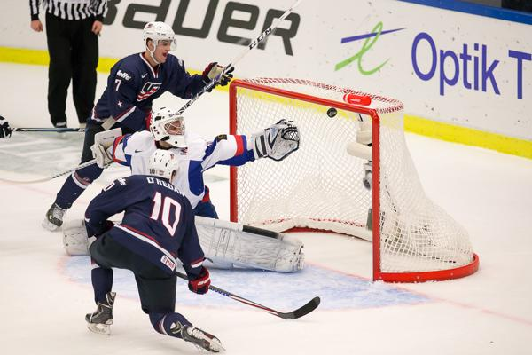 WJC: Six Different Players Score For U.S. In Win Over Slovakia
