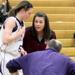 Trinity's Lauren Prochaska walks off the court
