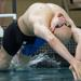 Evanston's Christian Stankovic swims a leg of the 200-yard medley relay