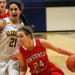 Hinsdale Central's Gabrielle Rush drives to the basket against Glenbrook South's Riley Dahiya.