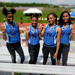 Left to right: Jade Pope, Jon'Nay Lloyd, Jasmine Pope, Keyoura Smith (junior) of the 4x400 Pennsauken relay team.