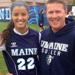 SSC 19G 95/96 player, Genaya Loftis, with SSC DOC and Head Coach, Rob Brule after playing the University of Rhode Island this past fall.