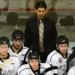 Battlefords North Stars head coach and general manager behind the bench. Photo by Byron Hildebrand
