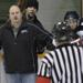 Hockey Coach Argues Call