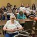 Jr. Flyers girls volunteer at The Hickman Senior Center