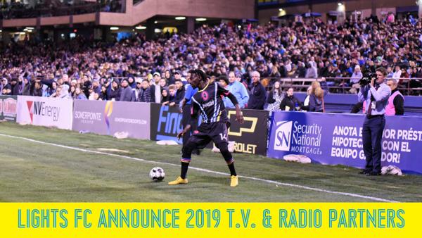 d644b977c5d LIGHTS FC ANNOUNCE T.V.   RADIO PARTNERS FOR 2019 SEASON