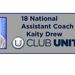 18 National Assistant Coaching Announcement