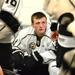 North Star forward Jake McMillen sits in the dressing room before the first game of the season likely not thinking about playing his 200th game with the North Stars, but that is the reality tonight when he takes to the ice in Melville. Photo by Byron Hild
