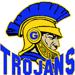 garner trojans helmet logo
