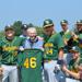 Norman Wells awarded jersey by Trojans GM Dave Martin Baez