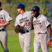 Team GB players Jordan Edmonds, Richard Kljin and Nateshon Thomas