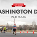 Runners in front of the Washington Monument