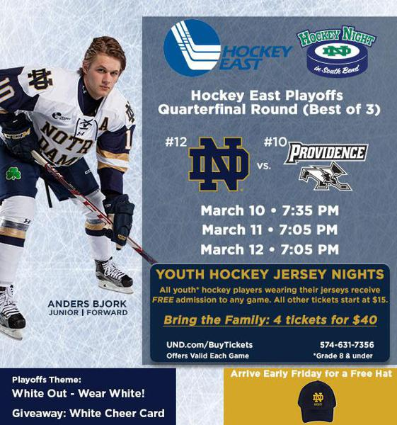 ND Hockey Playoffs - Free admission for kids with Youth