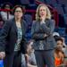Associate coach Pam Durkin of Sterling (left) and head coach Lynn Milligan of Eastern