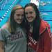 Grace and Molly Kowal at the NCAA swimming championships in Indianapolis