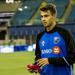 Nick DePuy holding a bib during a Montreal Impact training session