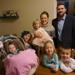 Doug and Michelle with their five children - Lucy (9 months), Baileigh (9), Grace (2), Lilie (3) and  Dougie (5).