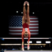 Ashton Locklear on the uneven bars