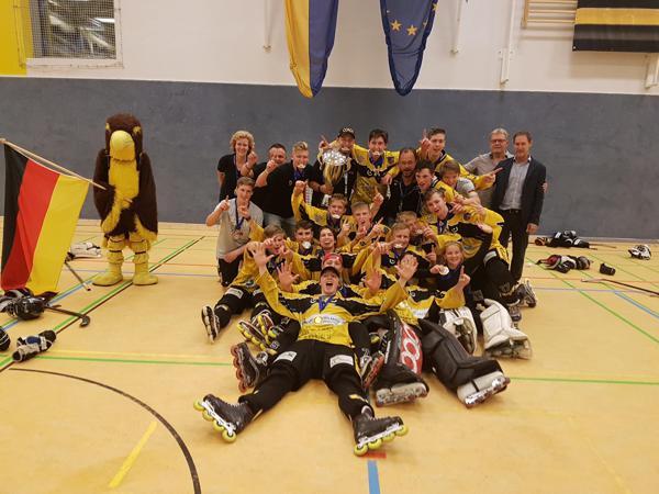 Crash Eagles Kaarst from Germany won the IISHF U19 European Cup 2018