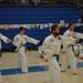 Adult men practicing martial arts and self defense