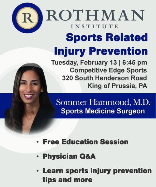 Rothman Institute at Competitive Edge Sports is Postponed!