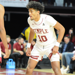 Jake Forrester defends an opposing player