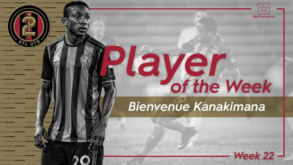 Atlanta's Kanakimana Voted Championship Player of the Week