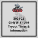 Titans announce Girls 2021-22 Tryout Times & Information