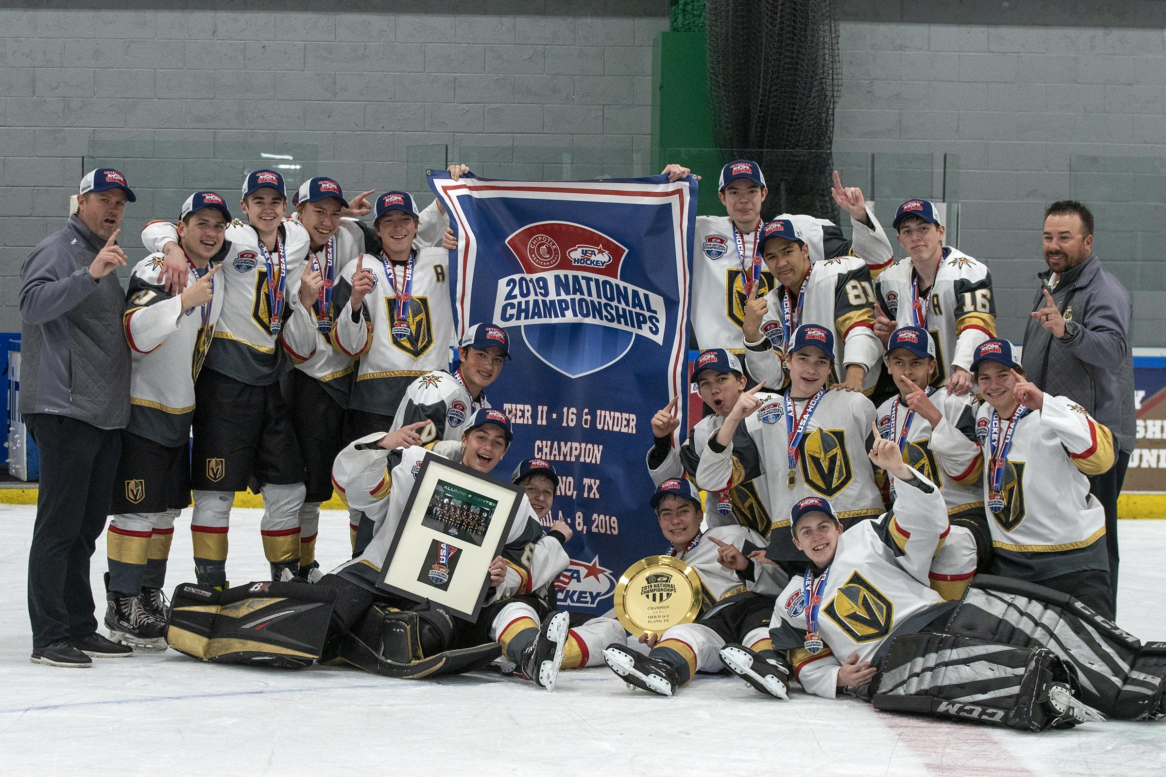 new concept 54393 5fb3c Vegas Jr. Golden Knights Win Youth Tier II 16U 1A Crown in ...