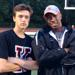 Kingsway senior Joey Grandizio and coach Christian Lynch