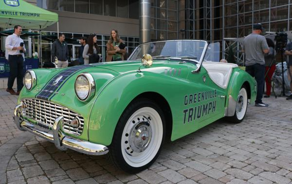 Greenville Triumph Roll Out Restored 1961 Triumph Tr3