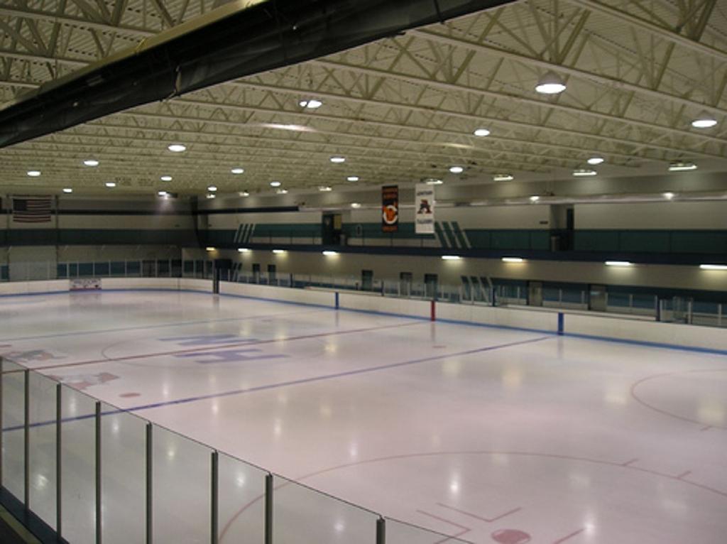 High School Hockey Locker Room