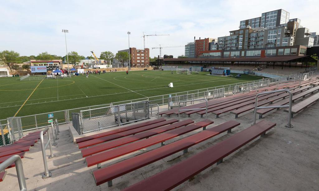 Bleacher seating Breese Stevens Field