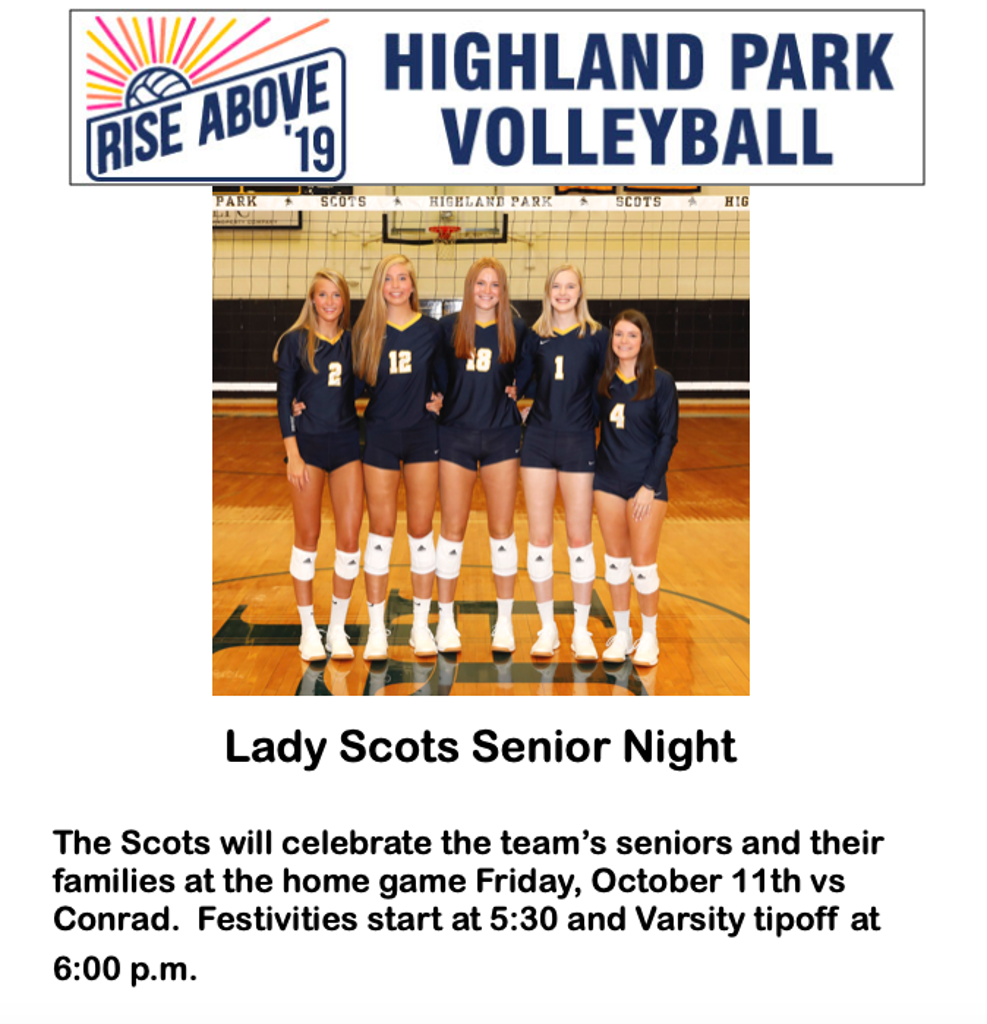 HPVB Senior Night!