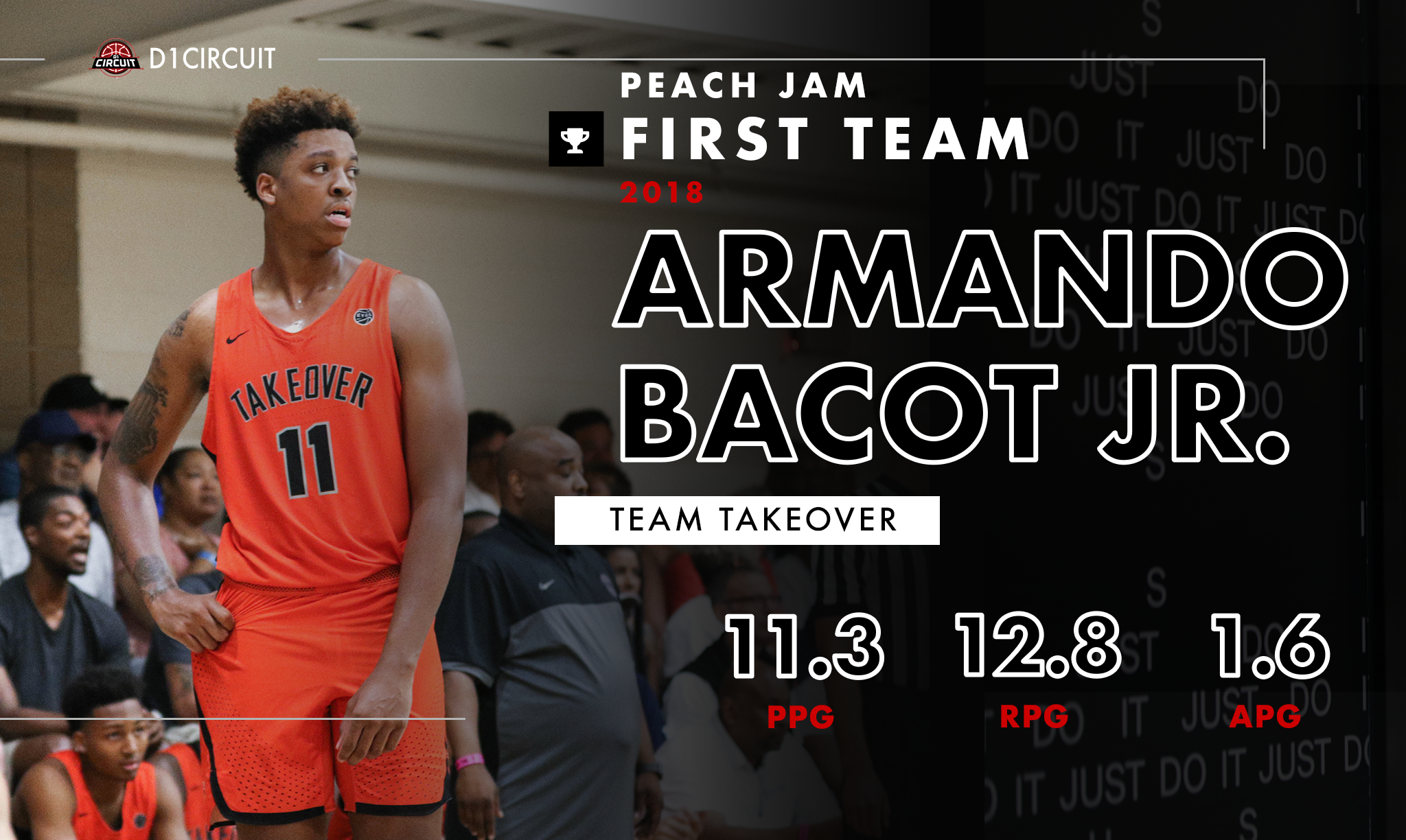 uk availability b82a5 41d78 Bacot fit in perfectly to Takeover s scheme, and the result was the second Peach  Jam Championship for DC s EYBL affiliate.
