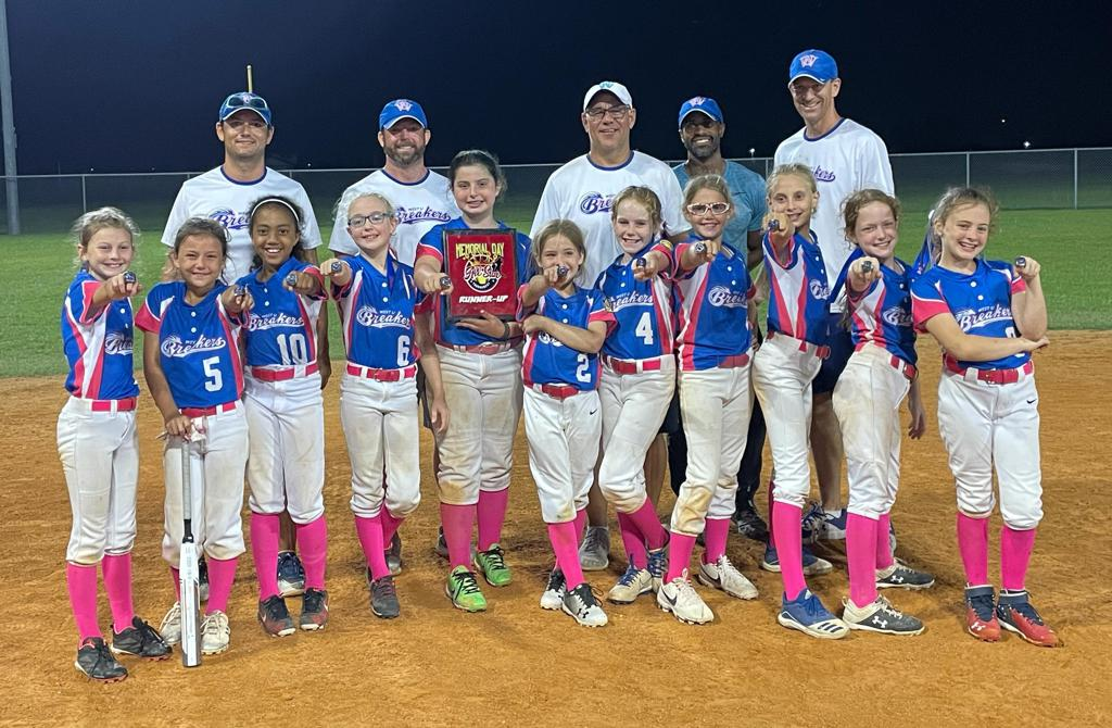 10U Breakers win 2nd place in the Katy Memorial Day Softball Tournament on 5/30/21
