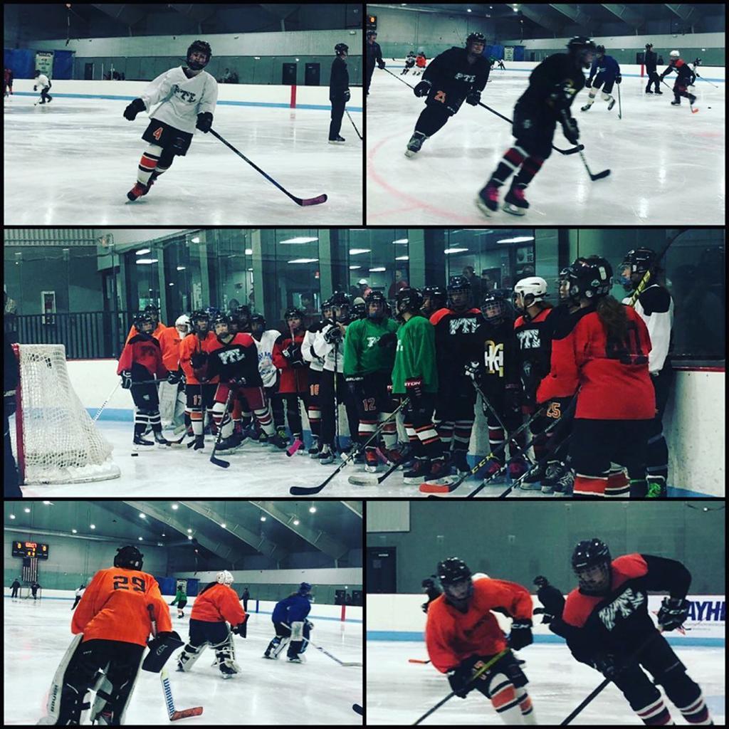 Princeton Tiger Lilies Girls Hockey, Ice Land, Hamilton NJ