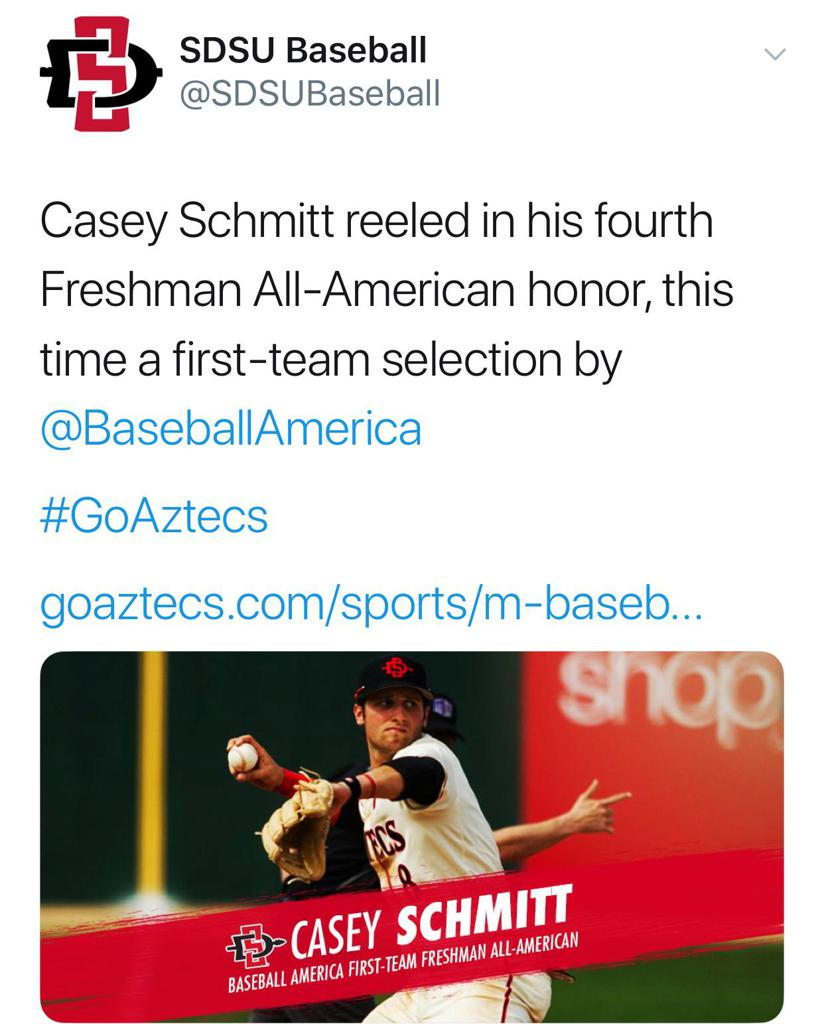 More All-American Honors for Casey Schmitt
