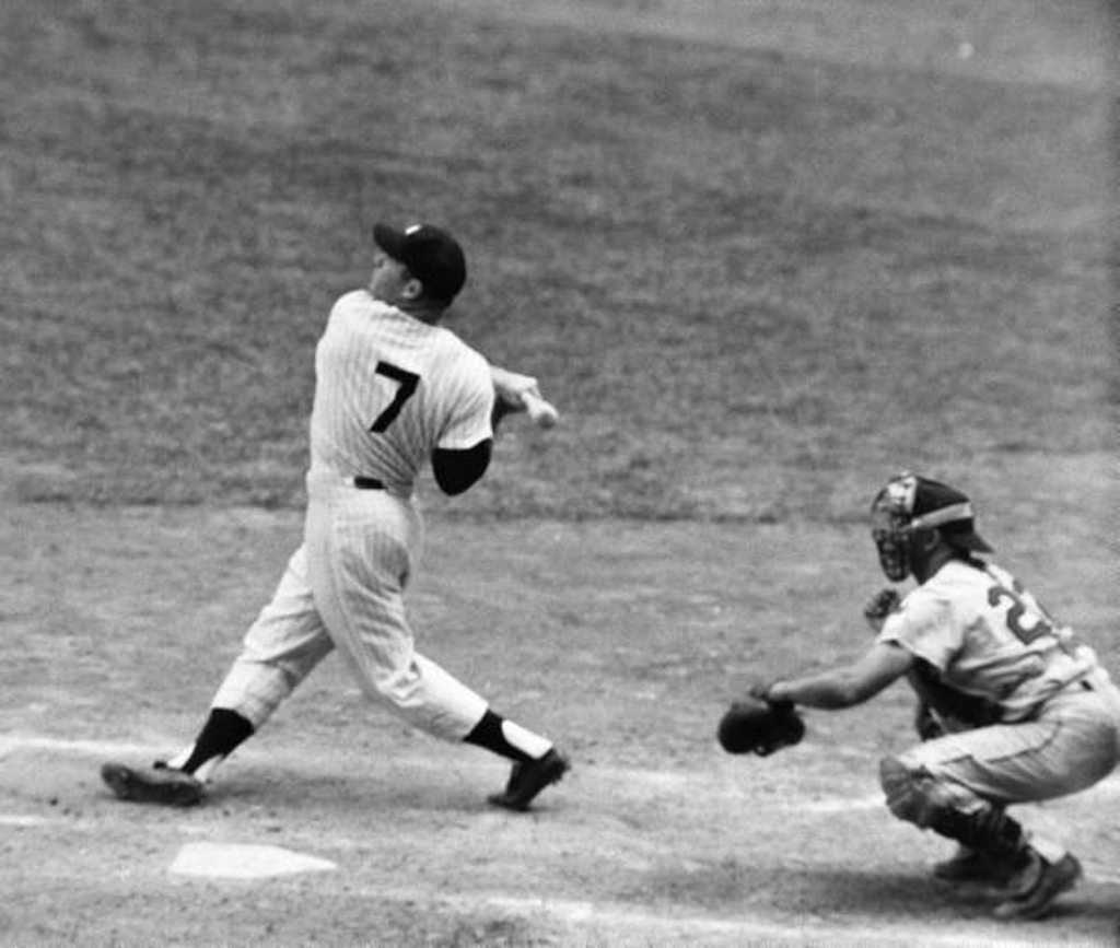 Image result for mickey mantle number 7 pic