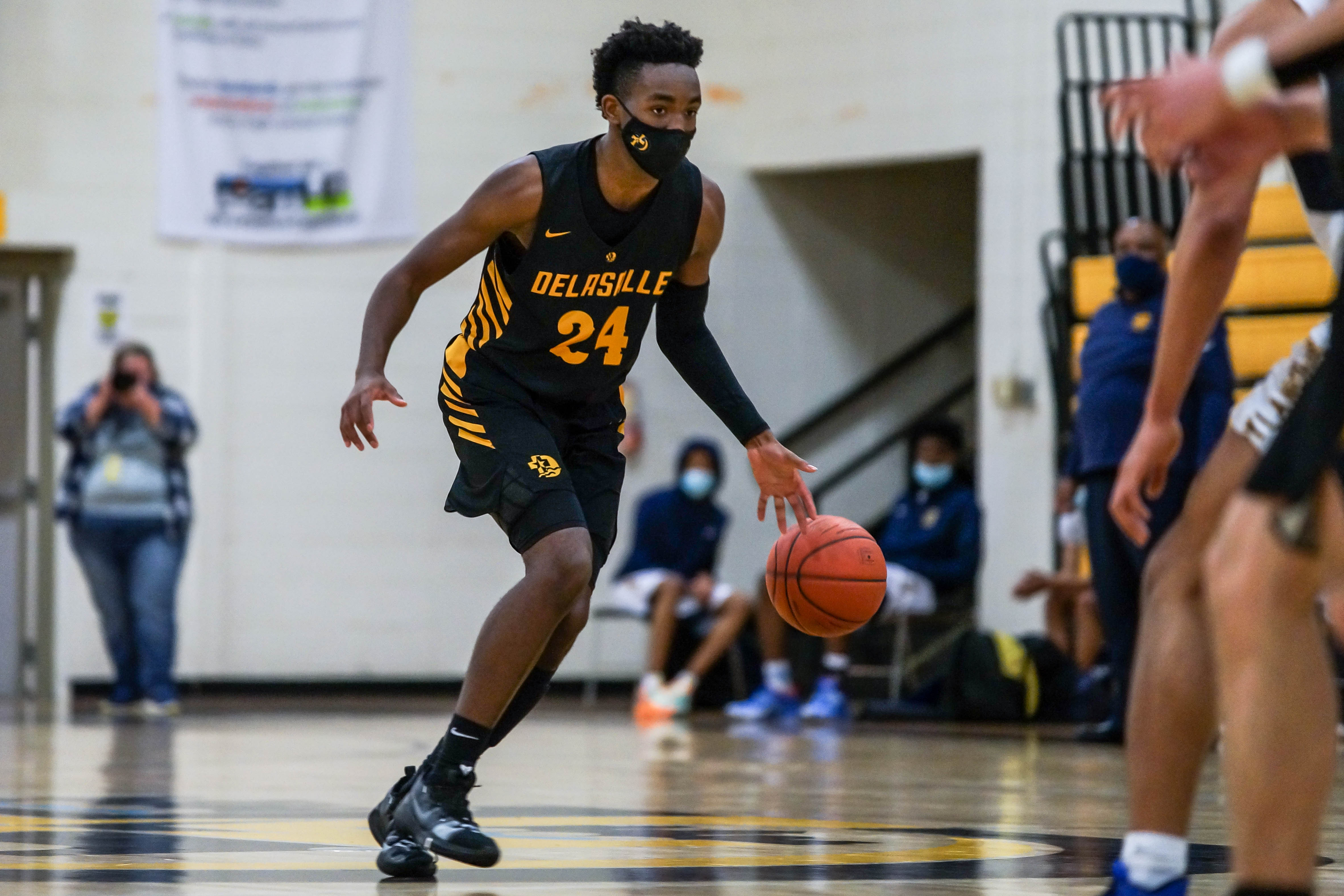 DeLaSalle senior Evan Boyd led his team in scoring with 20 points Tuesday night against Columbia Heights. Photo by Korey McDermott, SportsEngine