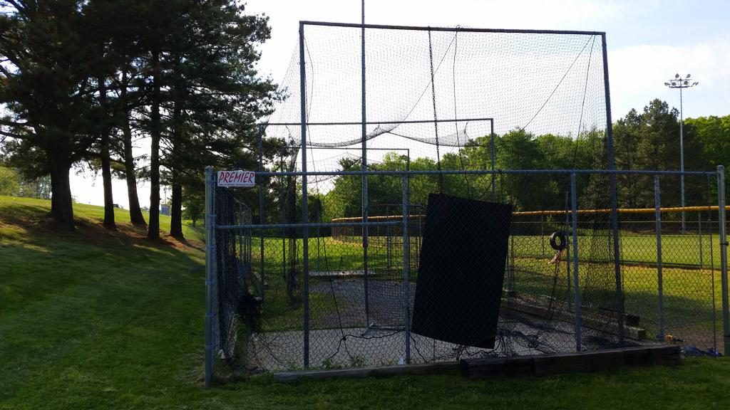 Our previous batting cage...From this in 2016