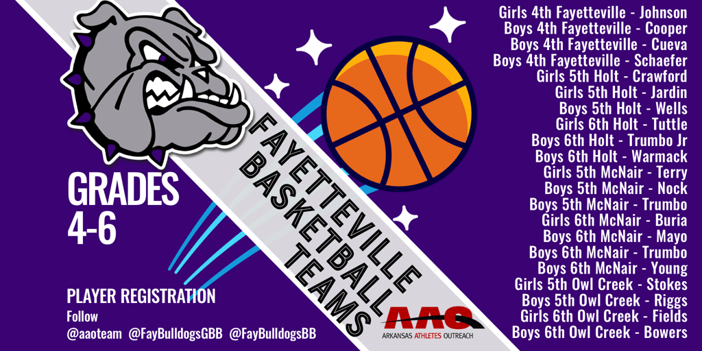 Player Registration for Fayetteville Teams