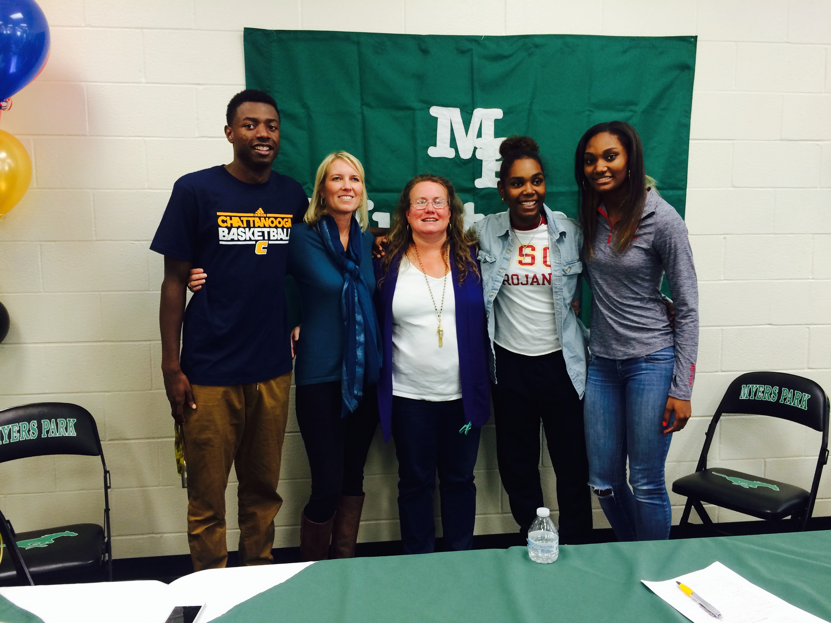 Signing Day for DD and Aliyah